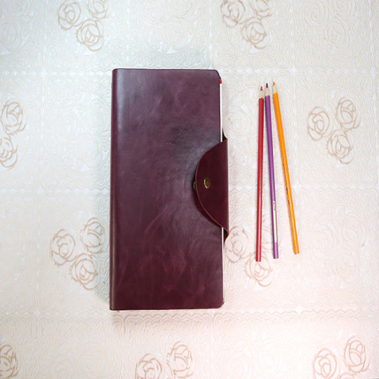 PU Leather Notebook A5 Men′s Business Book Service