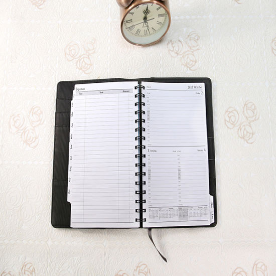 Spiral Binding PU Leather Soft Cover Wire-O Notebook