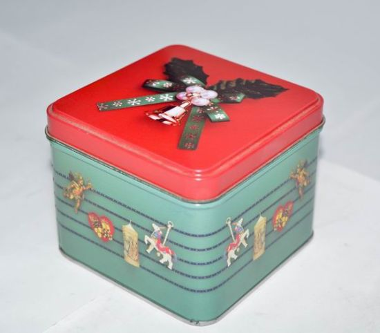 Square Metal Box for Cookies