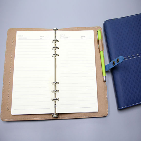 Hidden Wire-O Binding Notebook with PU Cover
