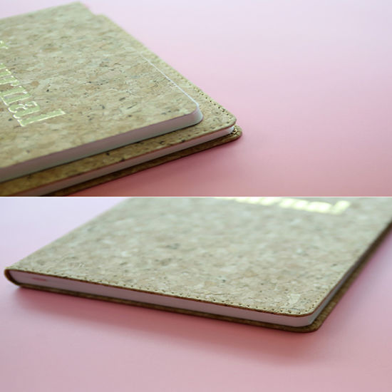 New Design Embossing Hard Cover Notebook with Silk