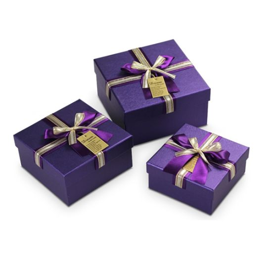 Fancy Purple Paper Gift Box
