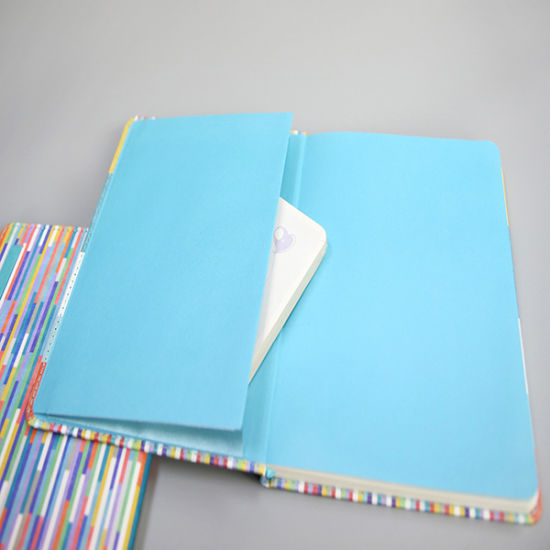 Colorful Hardcover Notebook Printing with Little Pocket
