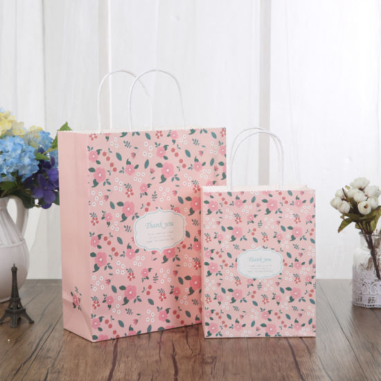 Fashion Style Custom Kraft Paper Packing Bag with Logo