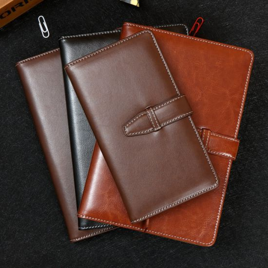 High Quality PU Leather Hardcover Notebook, Diary Printing with Lock