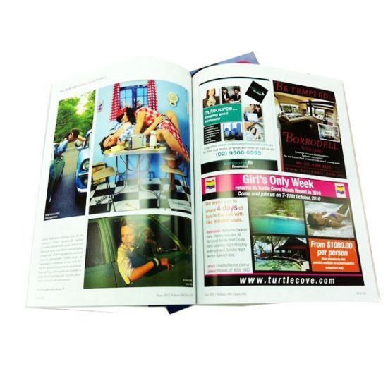 Custom Softcover Magazine Printing (OEM-MG006)
